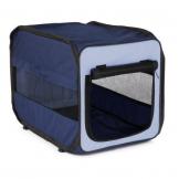 Trixie 39693 Transport-Hütte Twister, faltbar, hellblau/dunkelblau, Größe M, 50 × 52 × 76 cm -